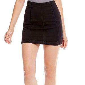 Free people - black jean mini skirt